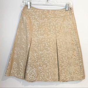 Ann Taylor Gorgeous Gold Skirt Size O Petite